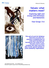 More information on Values: What matters most. Exploring right & wrong with Christians & Humanists